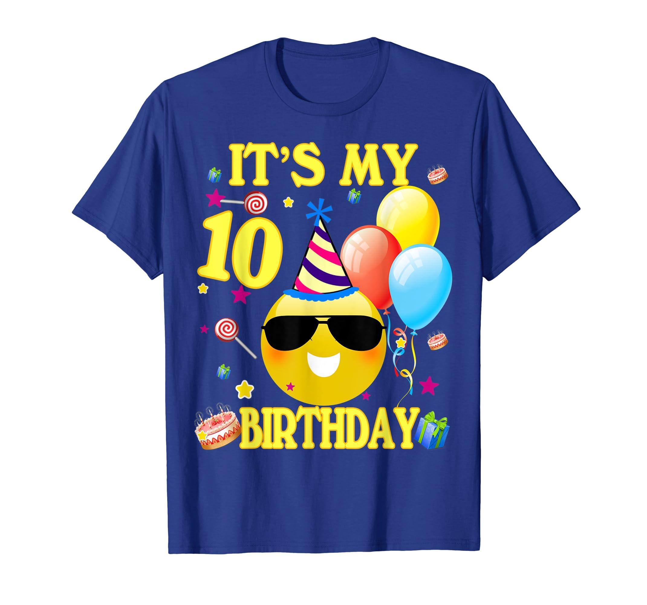 Amazon 10 Birthday Boy Shirt Years Old 10th Gift Clothing