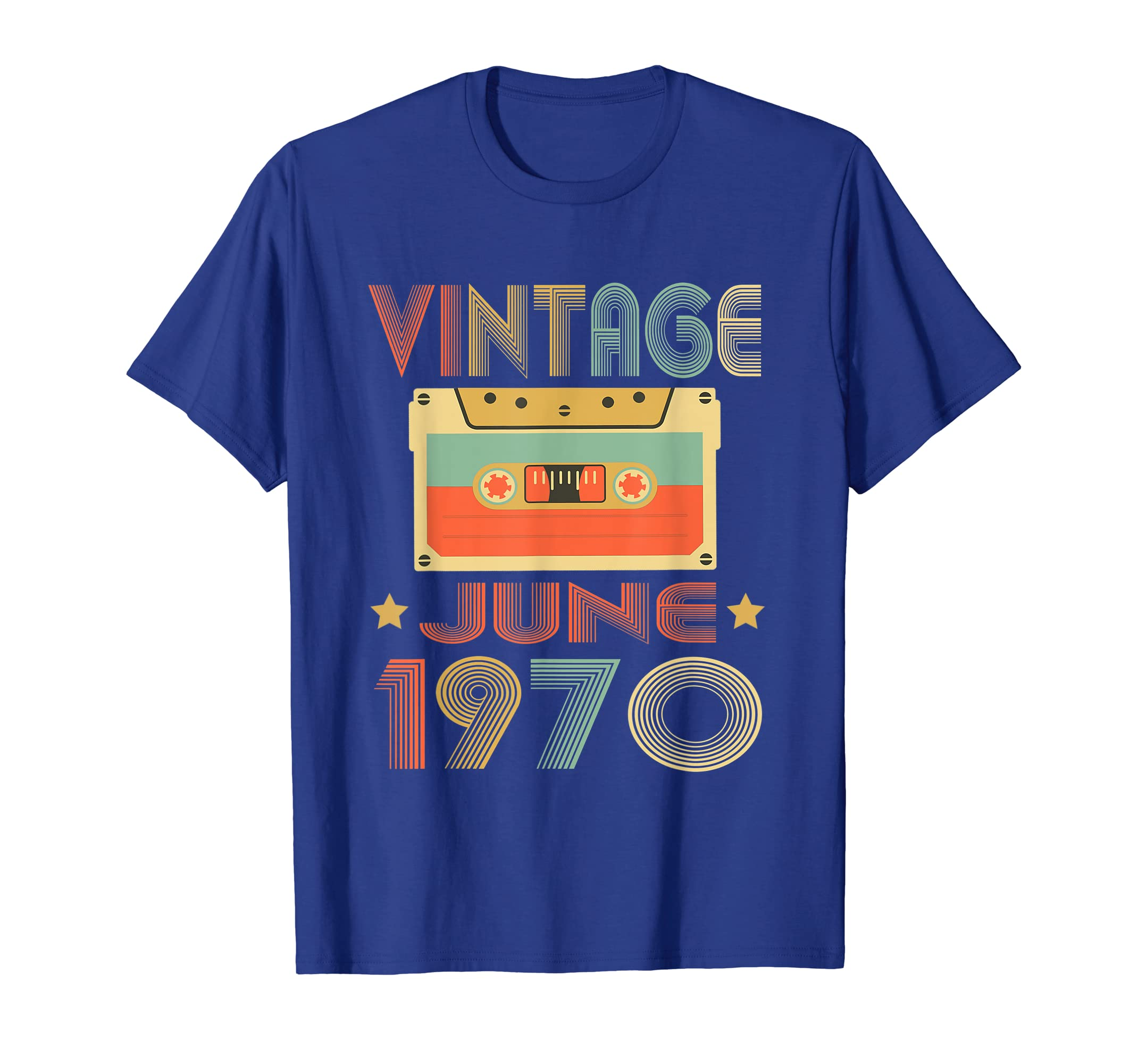 Vintage June 1970 49th birthday gift 49 Years old T-Shirt-Yolotee