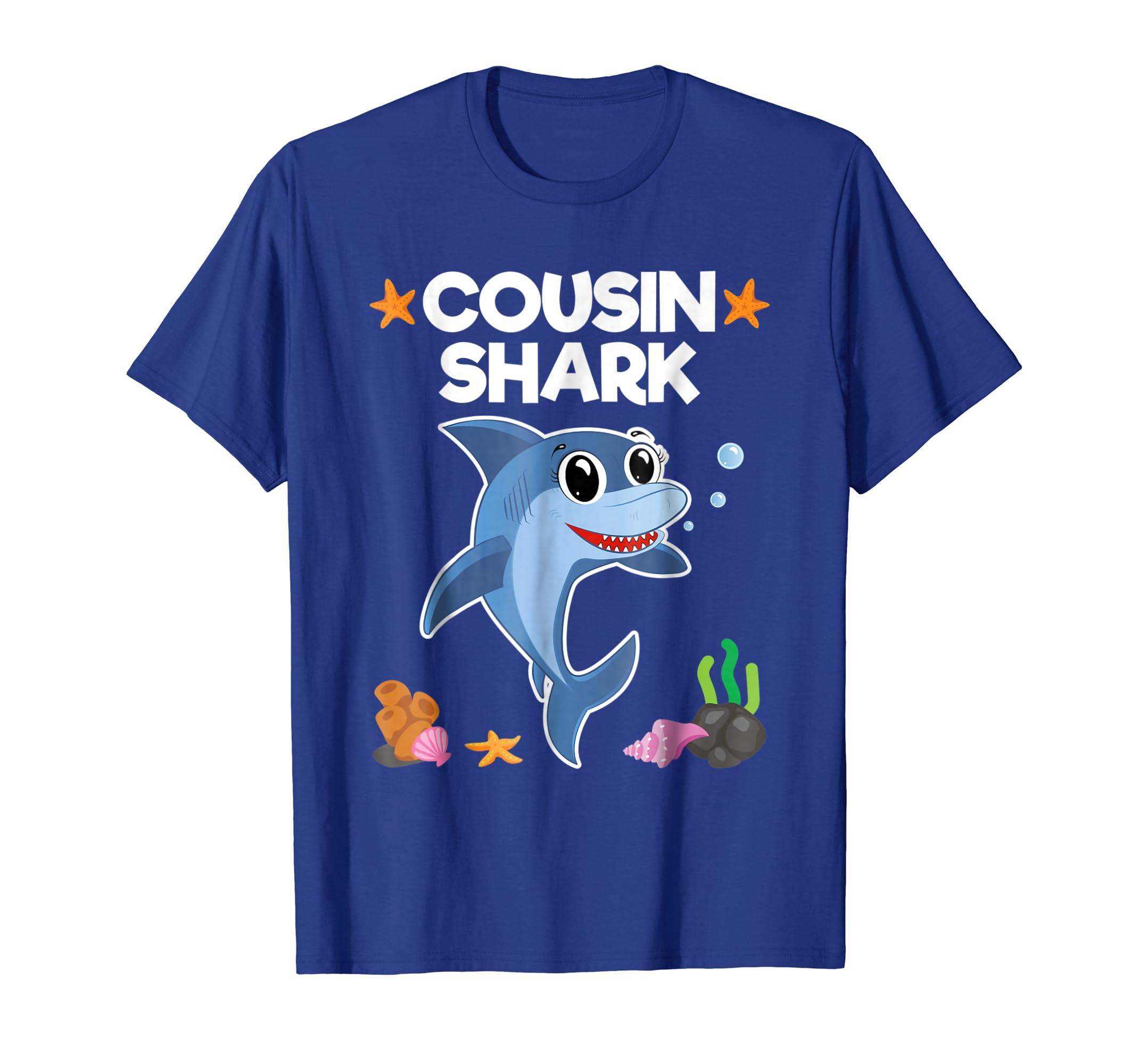 Amazon Cousin Shark Shirt Sister Brother Baby Birthday Gift Clothing
