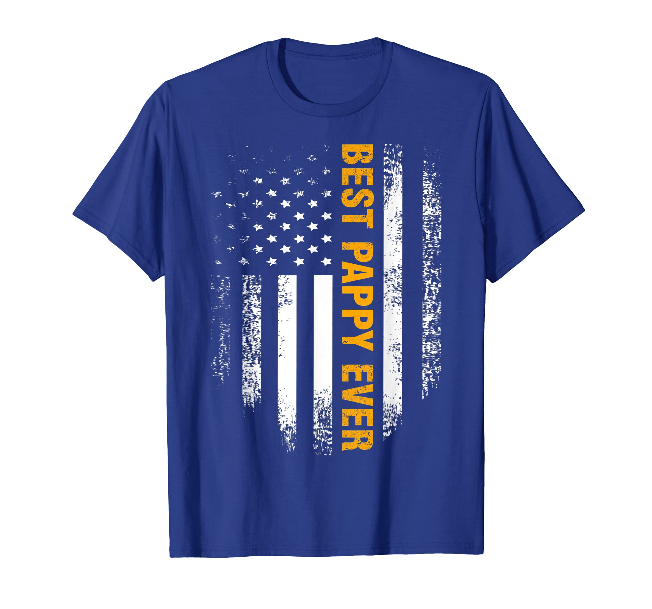 Best Pappy Ever T-Shirt American Flag Father's Day Gift-Yolotee