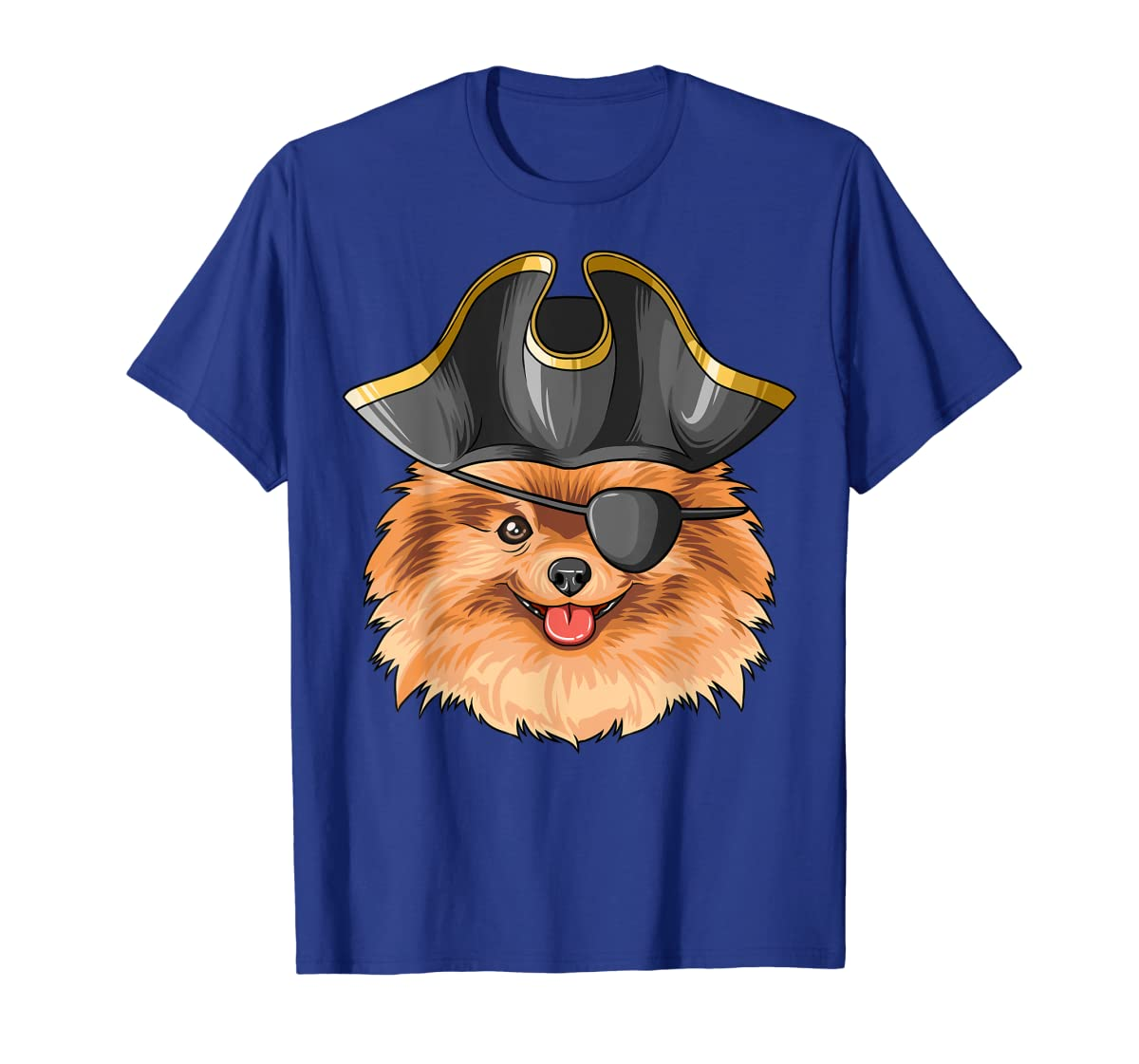 Pirate Pomeranian Pirates Hat Pomeranian T-Shirt-Men's T-Shirt-Royal