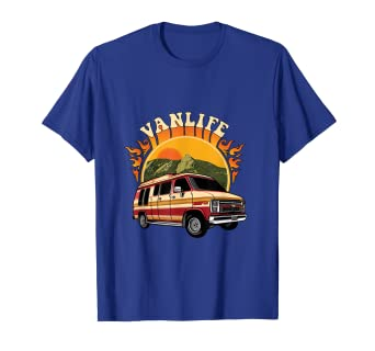 9d3f5729a20f4 Amazon.com: Van Life Camping T-Shirt for Dwellers in Vans: Clothing
