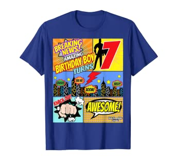 Image Unavailable Not Available For Color Superhero Birthday Shirt Boys 7