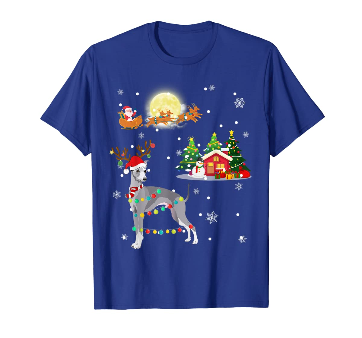 Greyhound Dog Led Light Christmas 2019 Gift T-Shirt-Men's T-Shirt-Royal