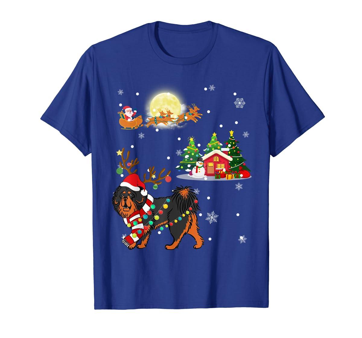Tibetan Mastiff Dog Led Light Christmas 2019 Gift T-Shirt-Men's T-Shirt-Royal
