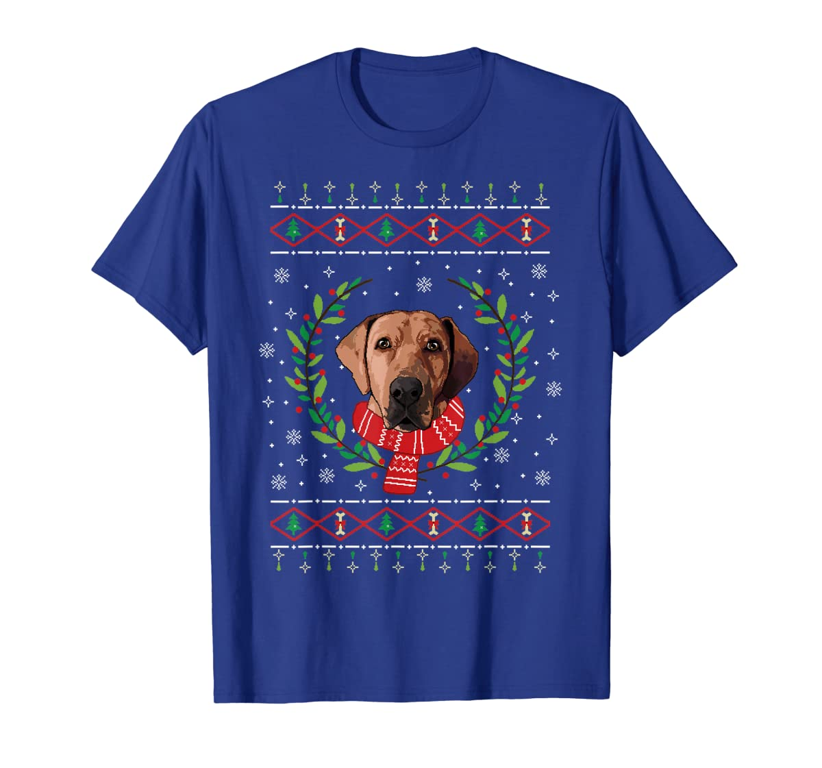 Broholmer Ugly Christmas Jumper T-Shirt Gift T-Shirt-Men's T-Shirt-Royal