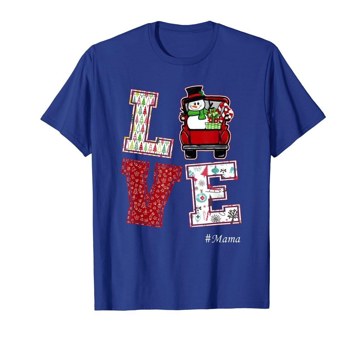Christmas Love #Mama T-Shirt-Men's T-Shirt-Royal