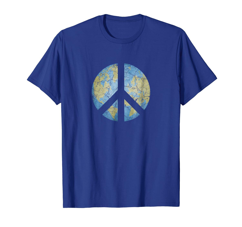 1460e6af46 Amazon.com: Vintage Peace On Earth World Peace T-Shirt: Clothing