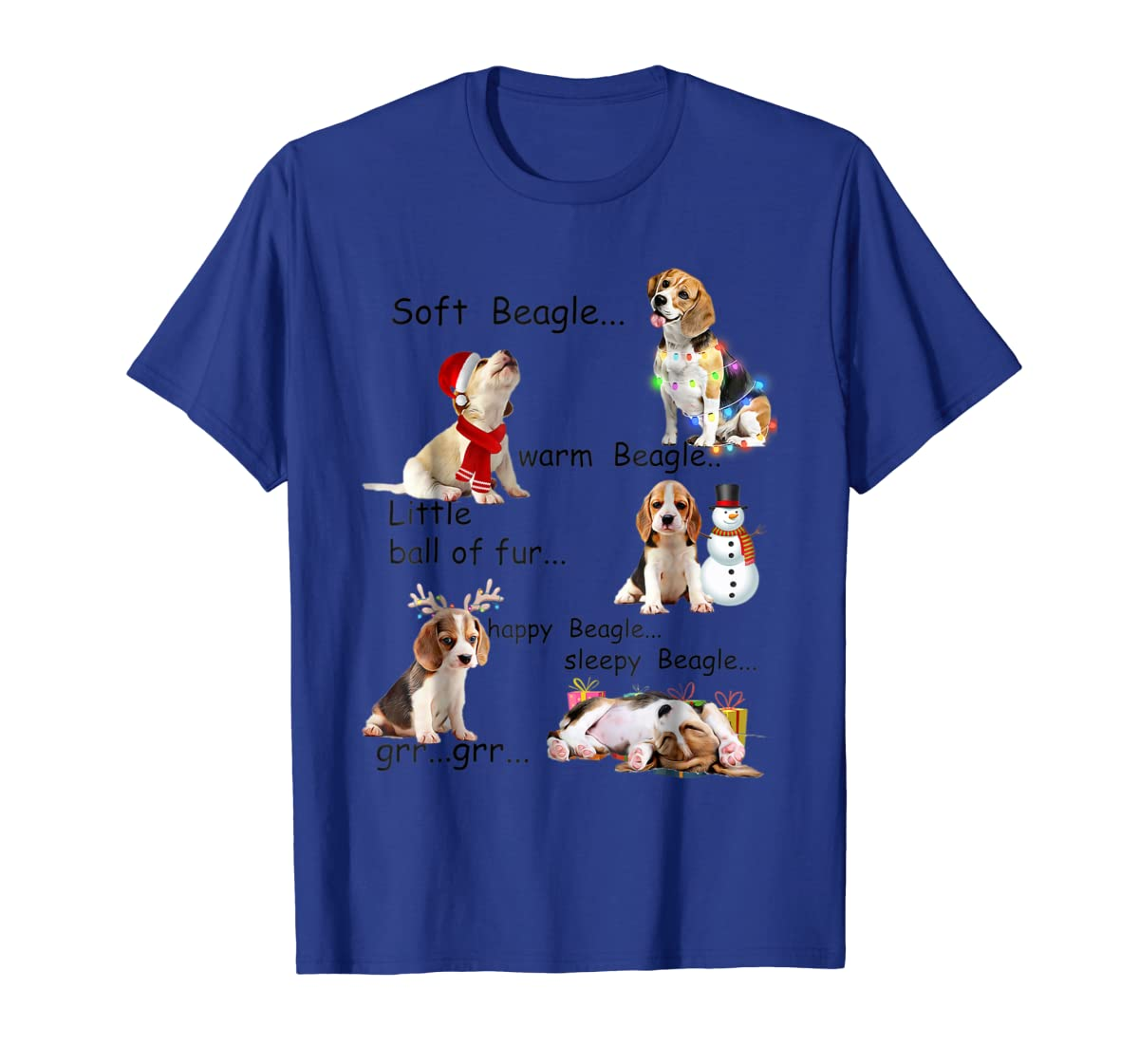 Beagle 5 Shades - Nice Dog Christmas Tshirt-Men's T-Shirt-Royal