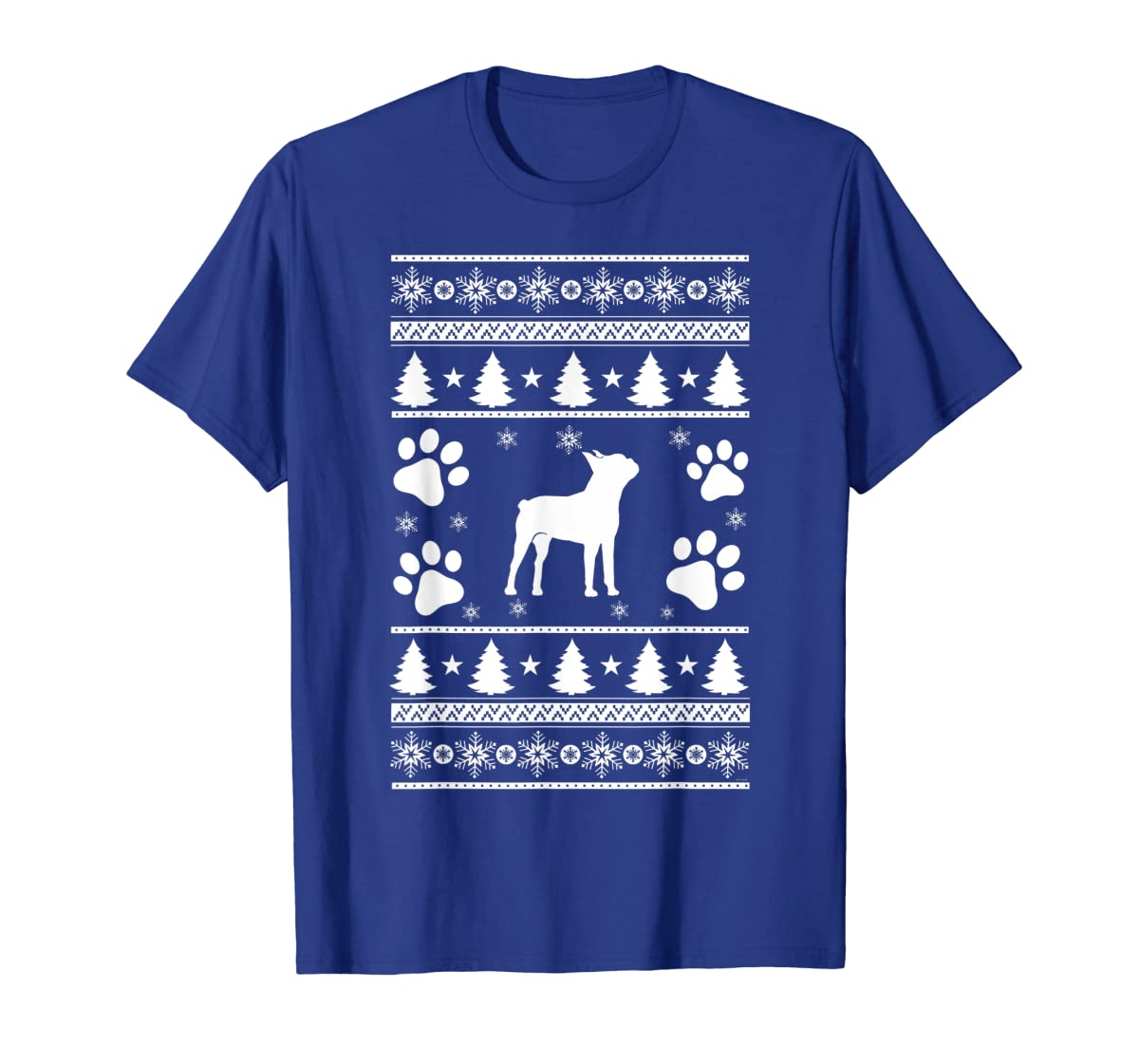 Boston Terrier lovers ugly christmas gift T-Shirt-Men's T-Shirt-Royal