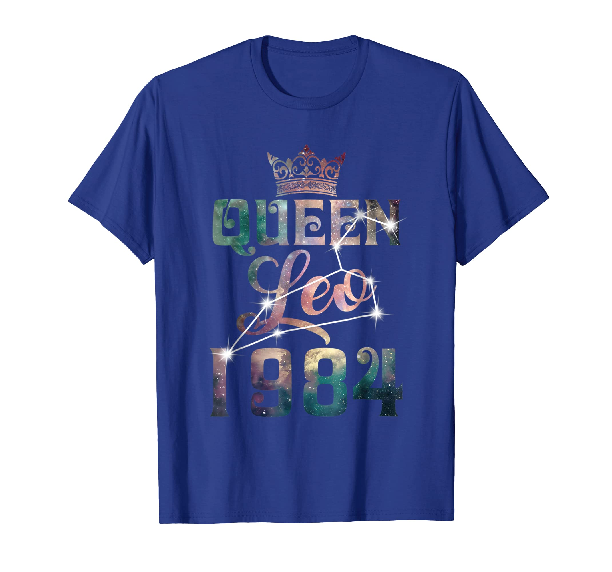 Queen Leo 1984 34 Years Old 34th Birthday T-Shirt-SFL