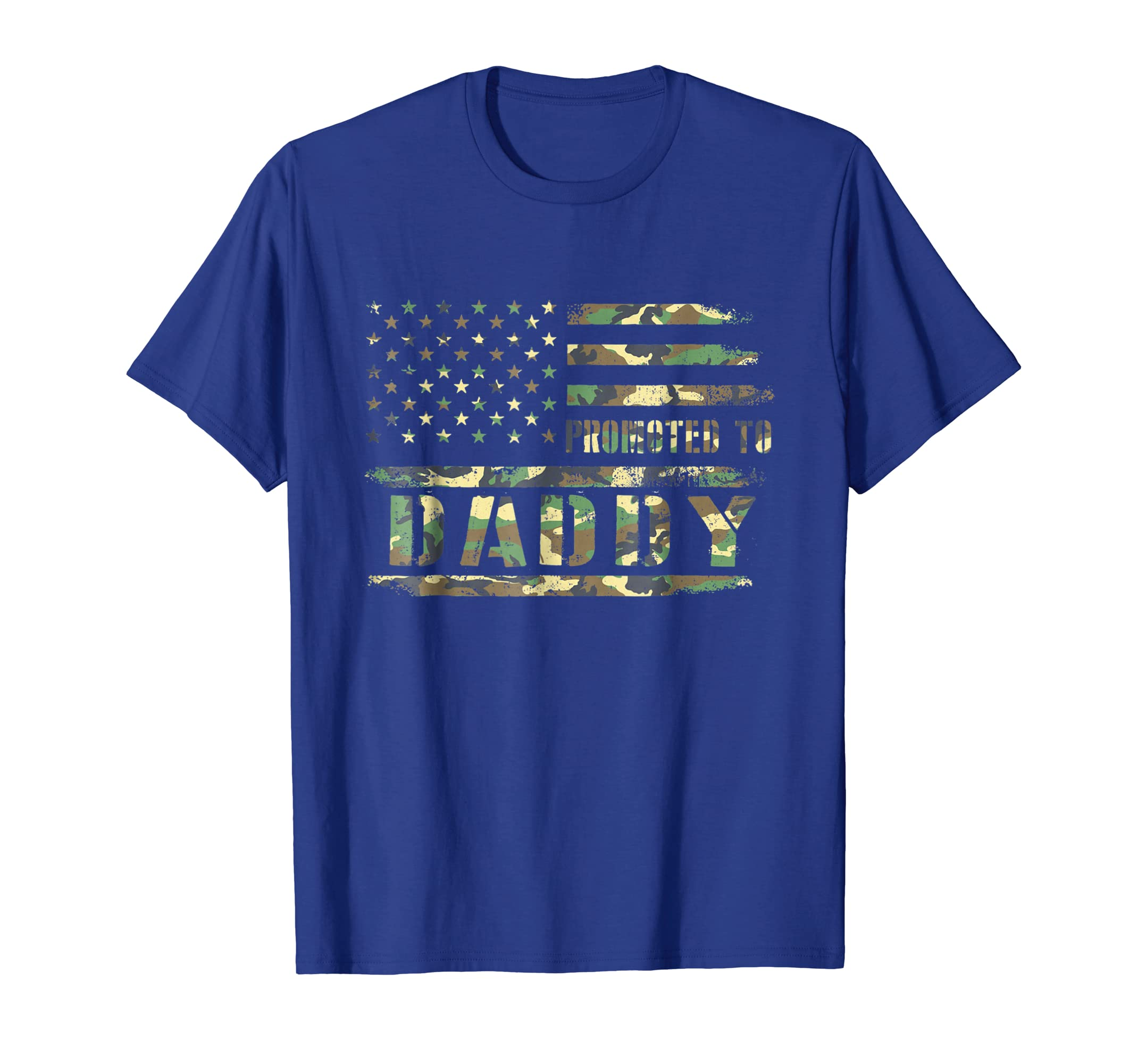 Mens Men's Promoted To Daddy Flag T-Shirt New Dad Gift-ANZ