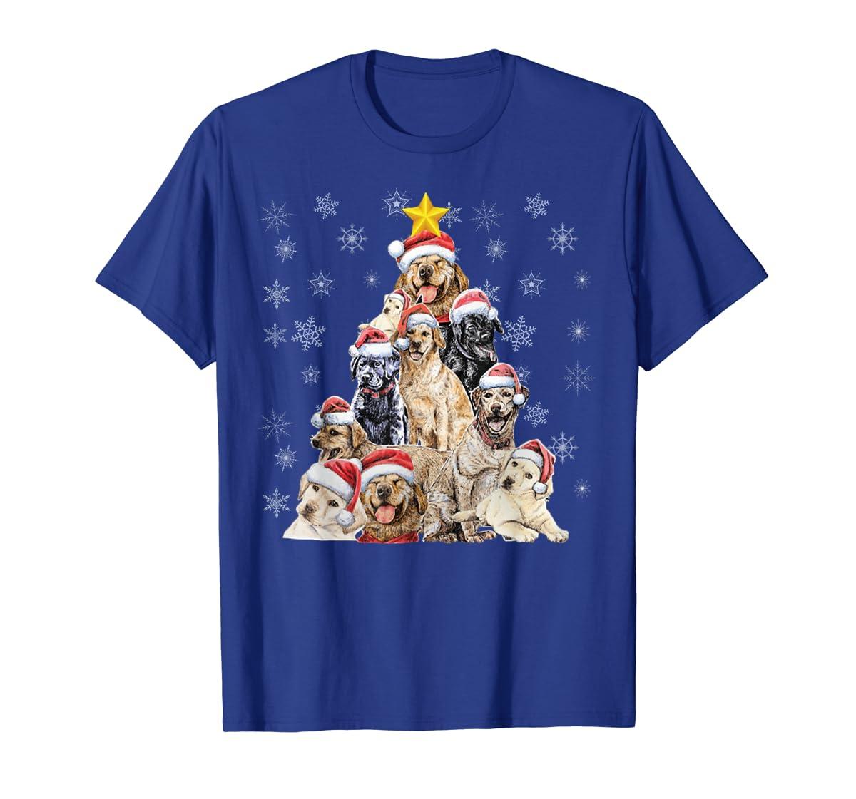 Labrador Retriever Dog Christmas Funny T-Shirt-Men's T-Shirt-Royal