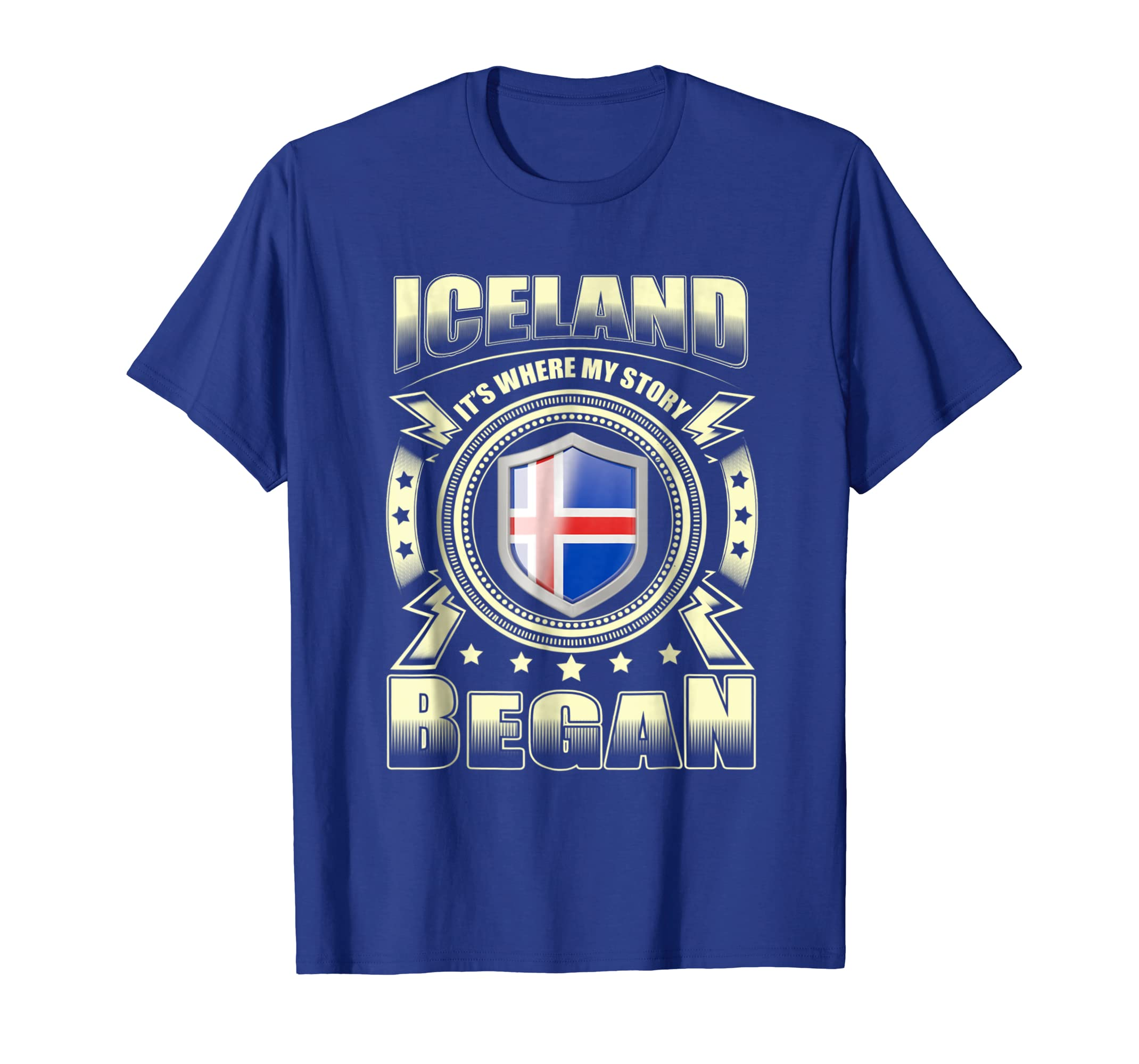 My story began in Iceland white black men women T-Shirt-ANZ