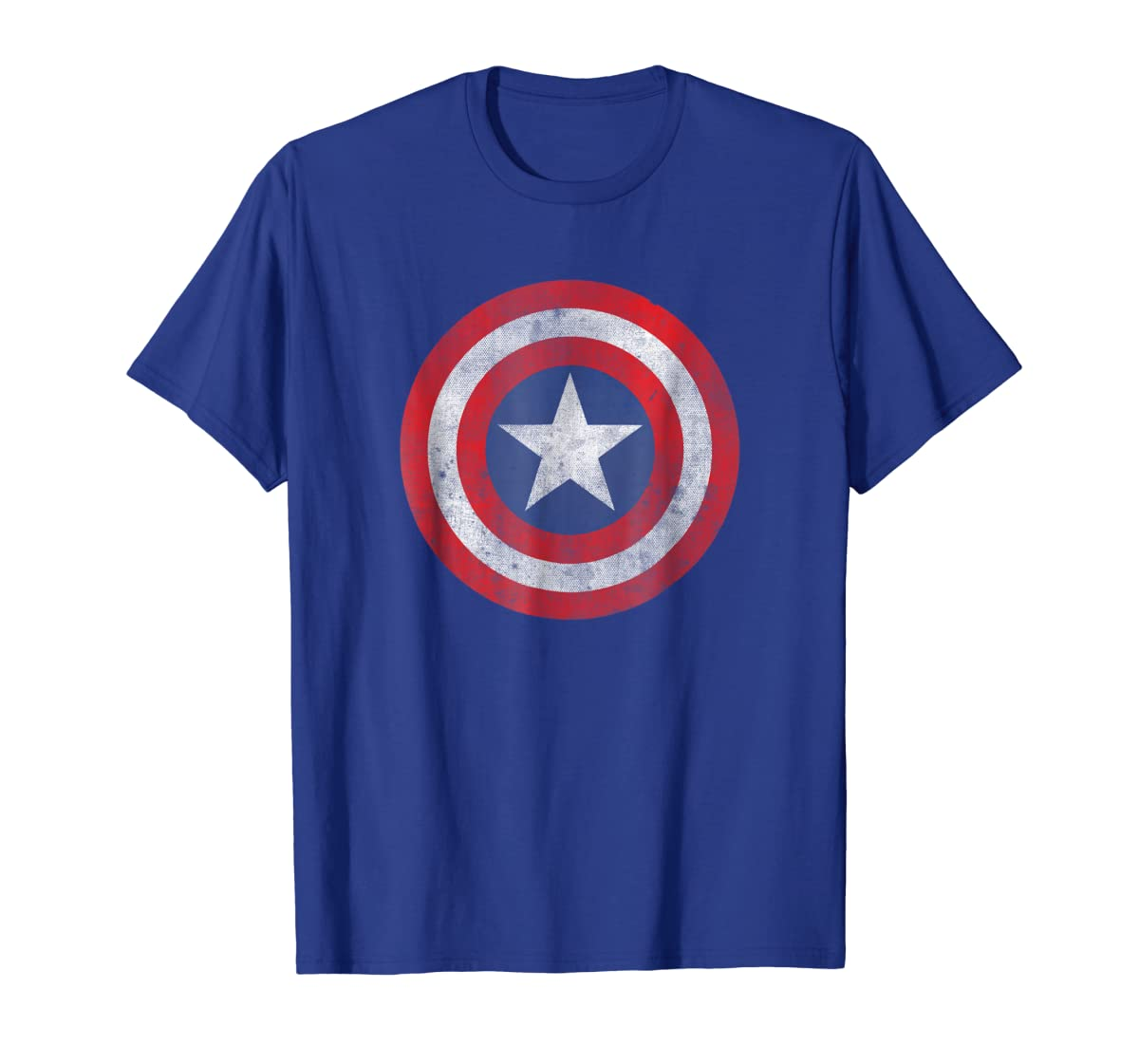 Marvel Captain America Classic Shield Graphic T-Shirt-Men's T-Shirt-Royal