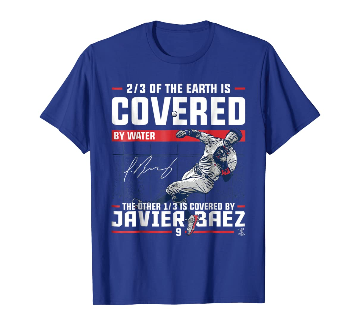 Javier Baez Covered By T-Shirt - Apparel-Men's T-Shirt-Royal