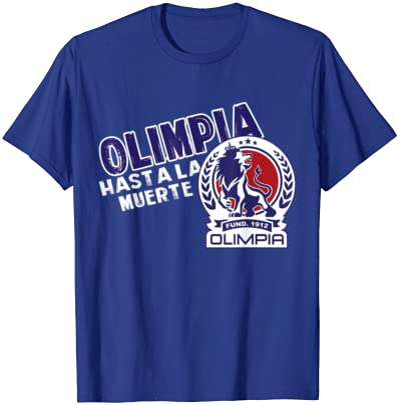 en lindos Colores tradicionales con el Logo Bordado y la Bandera de Tu Pais grabada en la Tela REAS Camisa Blanca de Olimpia Honduras La Camisa de Los Leones Monarcas de Tu Pais con 31 Titulos