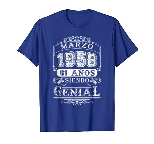 Amazon.com: Marzo 1958 61 Anos Siendo Genial 61st Birthday ...