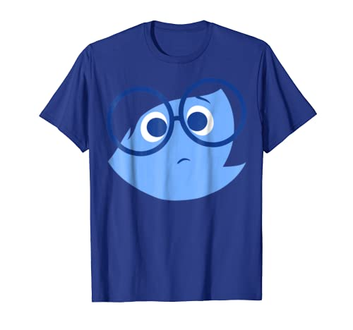 Disney Pixar Inside Out Sad Face Halloween Graphic T-Shirt