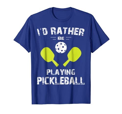 Amazon.com: Pickleball Shirts For Men and Women, Id Rather Be Playing: Clothing