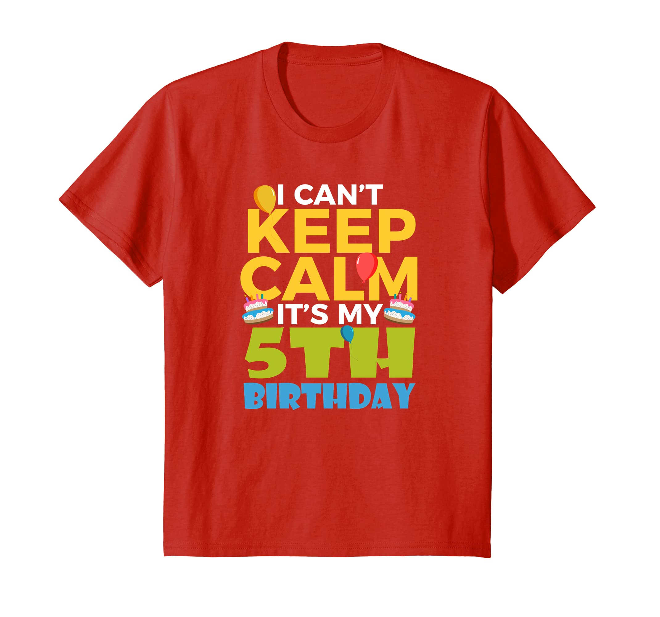 Amazon Kids 5th Birthday Shirt Boy I Cant Keep Calm Its My 5 Clothing