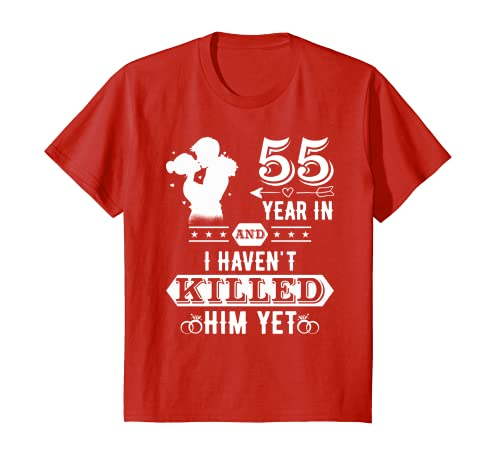 5ba3dff85 Amazon.com: Couple T shirts. 55th Wedding Anniversary Gifts For Wife ...