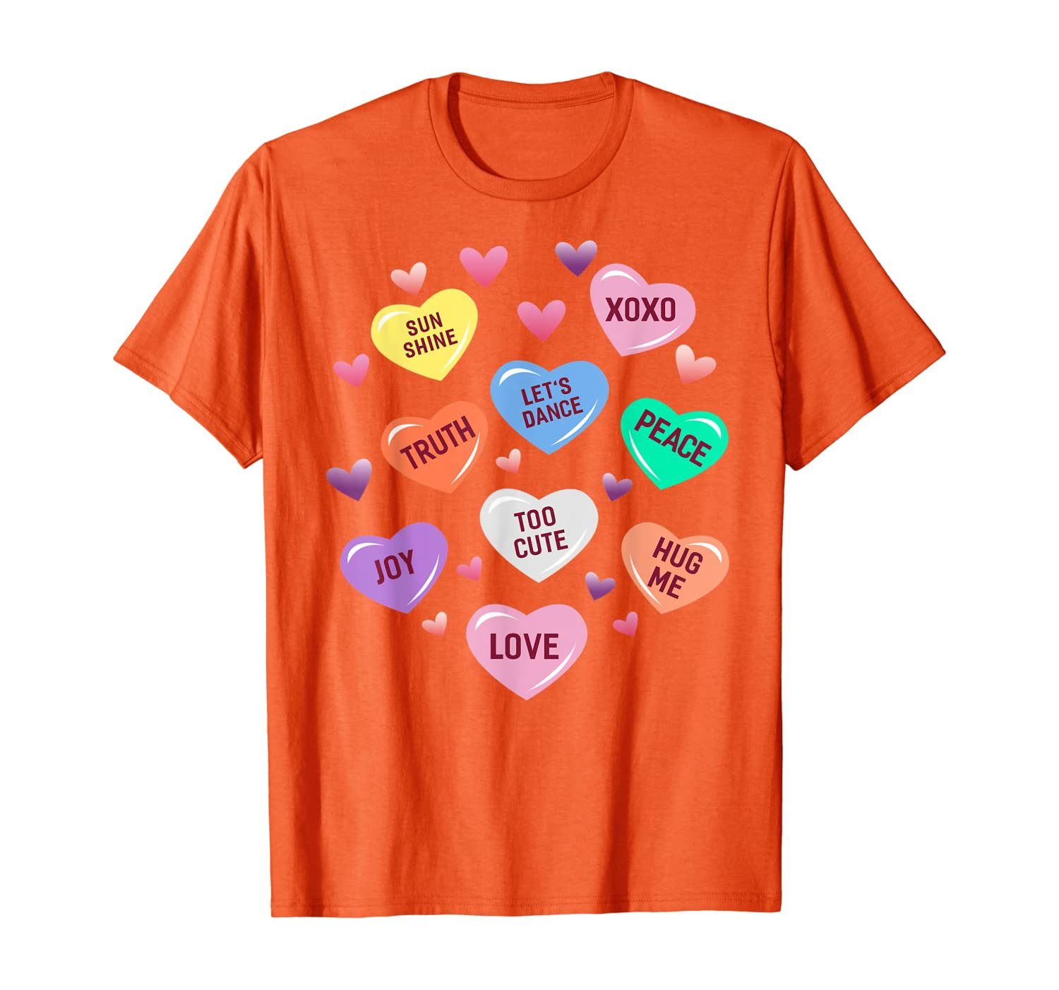 Valentines Day Heart Candy Design for Men Woman /& Kids T-Shirt