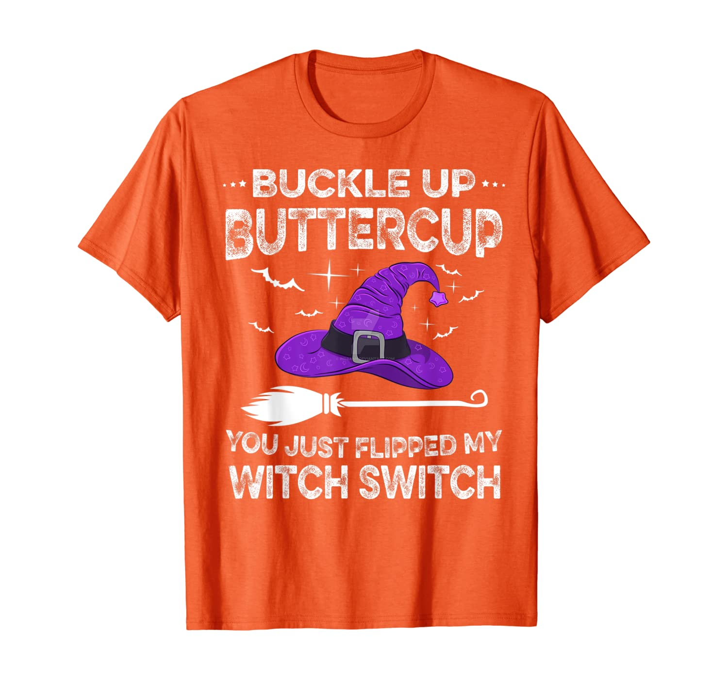 Happy Halloween Shirt Buckle Up Buttercup Witch Switch Funny T-Shirt