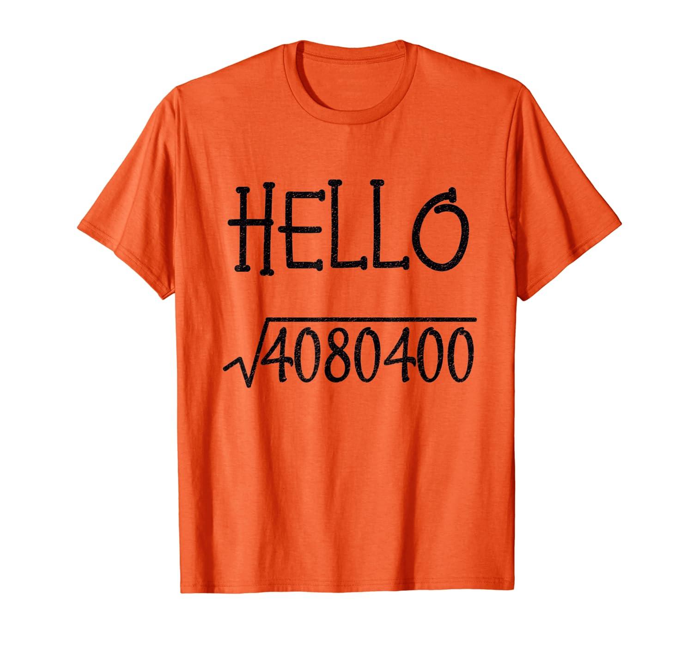 Hello 2020 New Year Square Root Kids Teachers Math Geeks T-Shirt