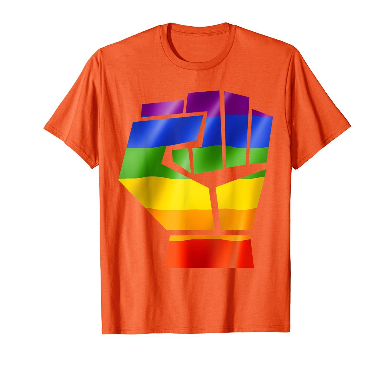 LGBT Resist Pride Lesbian Gay Bisexual Transgender T-Shirt-Yolotee