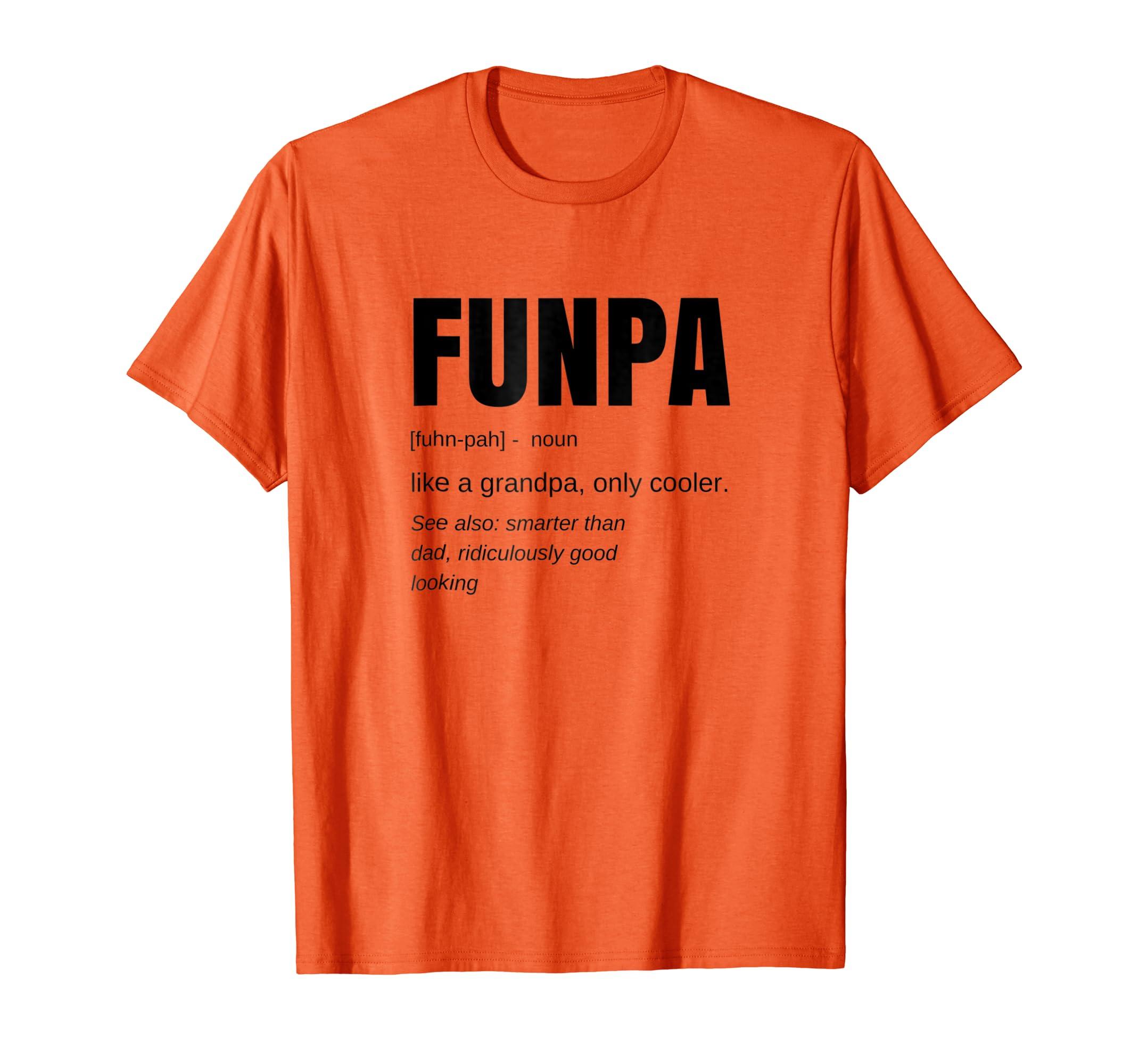 d463fa0f Amazon.com: Mens Funny FUNPA Fun Grandpa Novelty T Shirt: Clothing