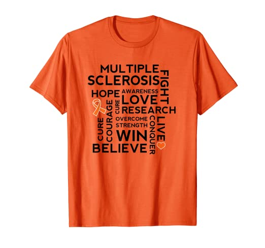c4b5ea50 Image Unavailable. Image not available for. Color: Multiple Sclerosis  Awareness Month MS Support Shirt