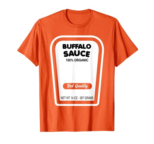 d04d2ede Image Unavailable. Image not available for. Color: Funny Buffalo Sauce Halloween  Costume T-Shirt