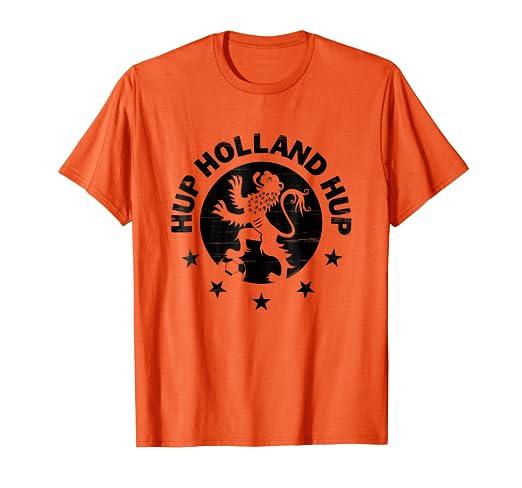 Image Unavailable. Image not available for. Color  Hup Holland Dutch Soccer  Lion Oranje Nederland Voetballshirt 82606afec