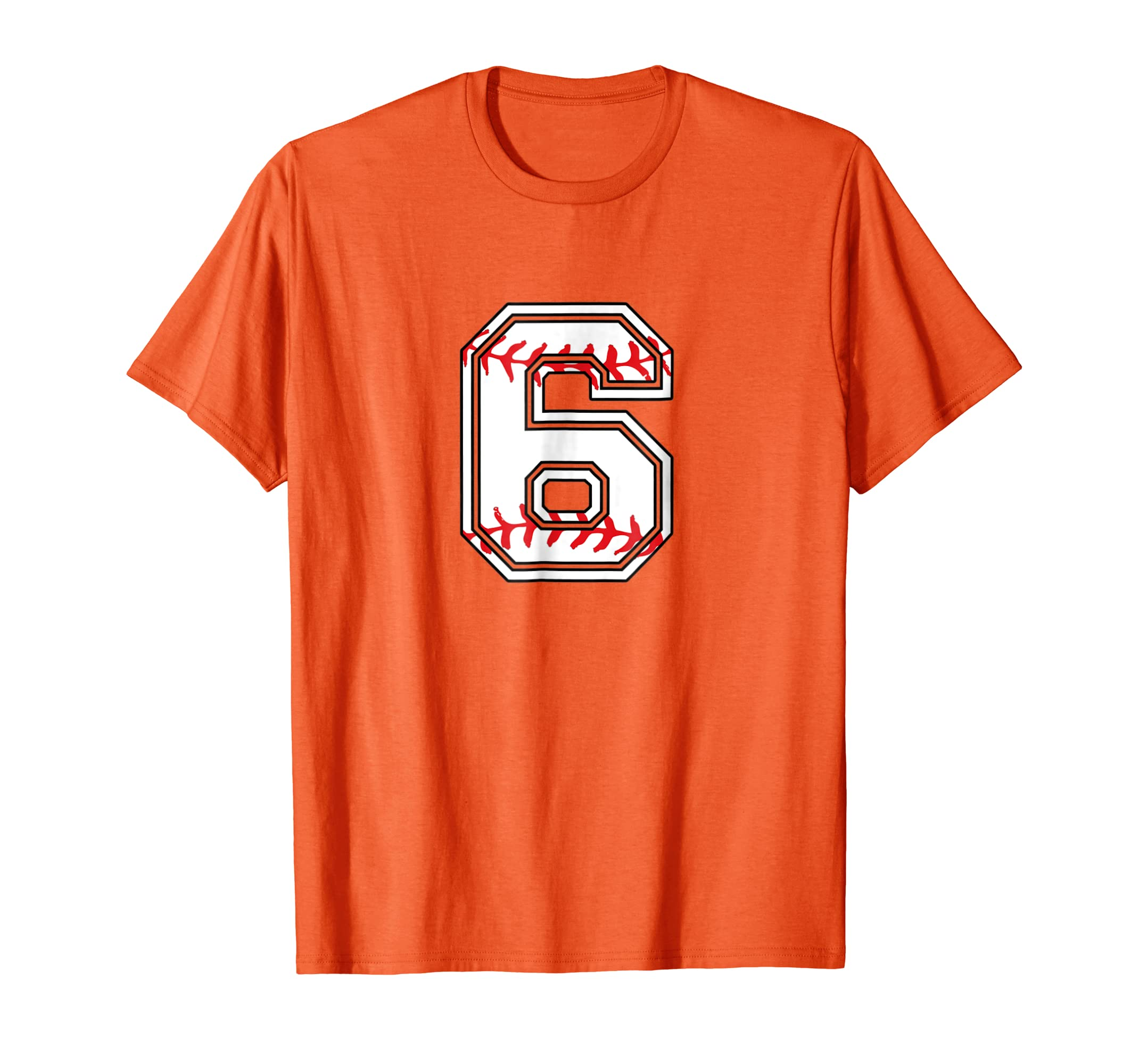 Amazon Number Birthday T Shirt 6 Years Old Baseball Tee Clothing
