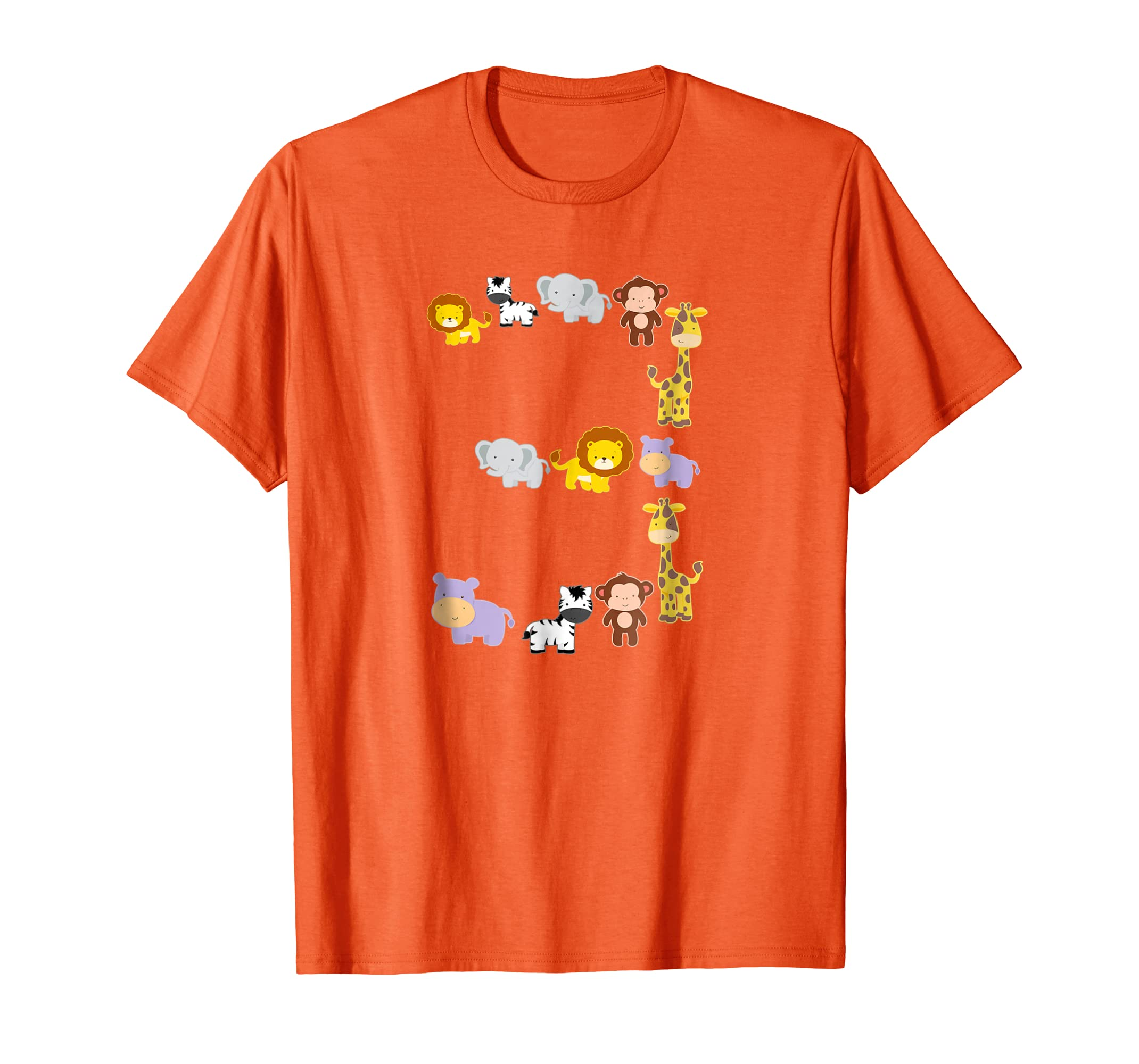Birthday Shirt 3 Year Old Boys Girls Cute Animals Party Gift