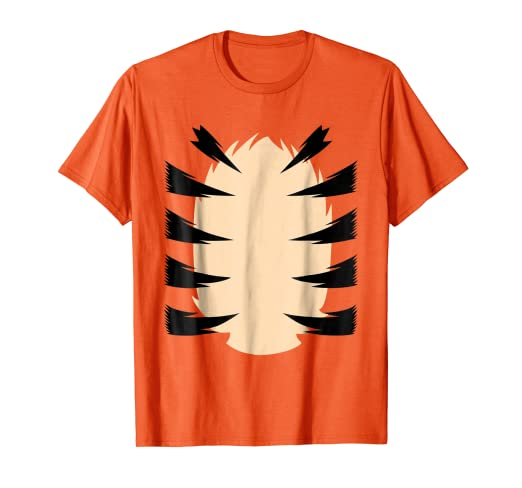 b0cf8c059e680c Amazon.com: Orange Tiger Costume for Kids DIY Halloween Costume TShirt:  Clothing
