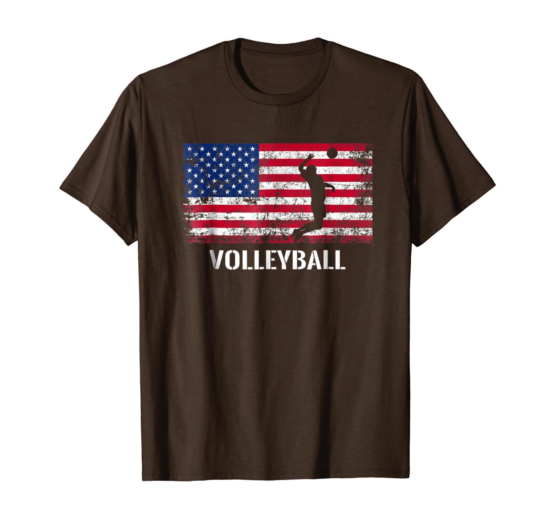 American Flag Volleyball Shirt – Archery Team Gift.