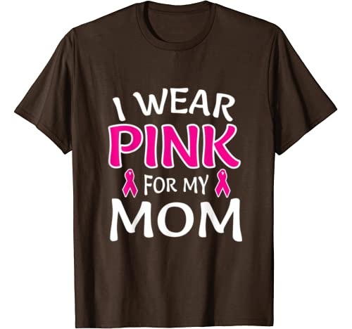 I Wear Pink for my Mom Youth/'s T-Shirt Pink Ribbon Breast Cancer Shirts