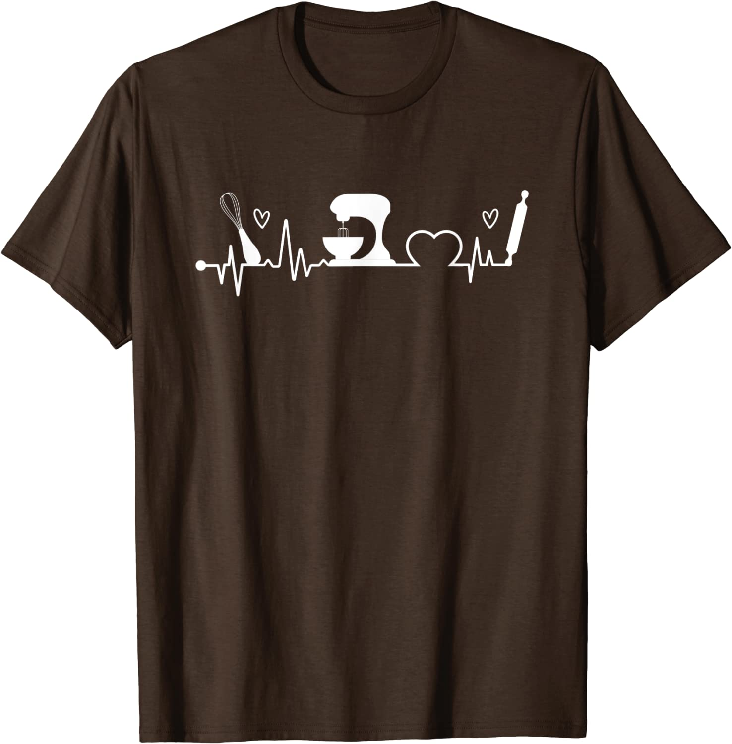 Baking Heartbeat Baker Bakery Owner Pastry Chef T-Shirt-TH