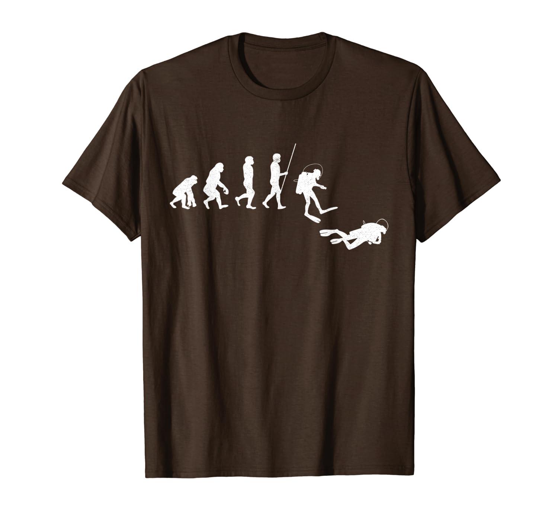 Diving Evolution Diver Scuba Diving Deep Sea Ocean Dive Gift T-Shirt Unisex Tshirt