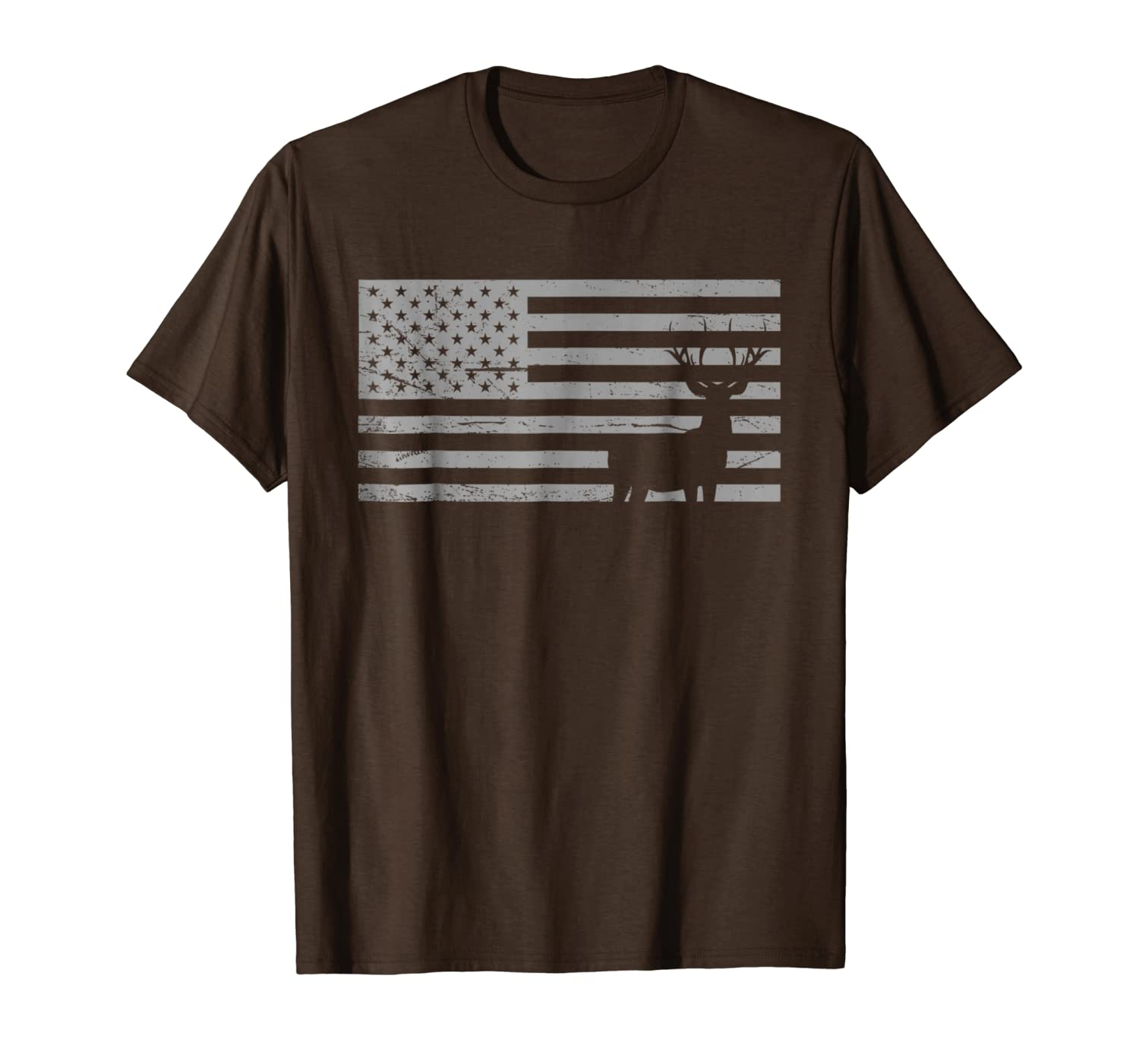 Deer Hunting And America Flag T Shirt Hunting Lover Gift Unisex Tshirt