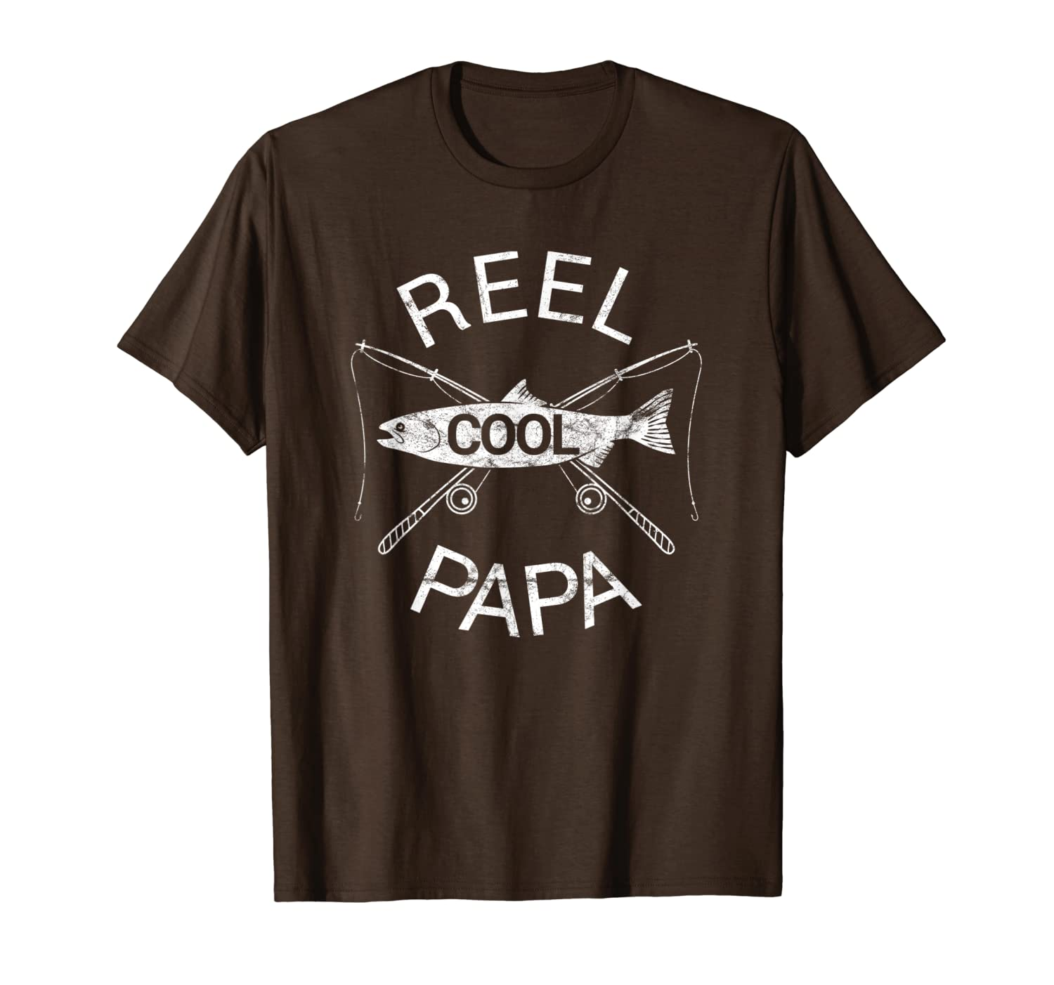 Fathers Day Gifts T-Shirt Fishing Reel Cool Papa Dad FUNNY Unisex Tshirt