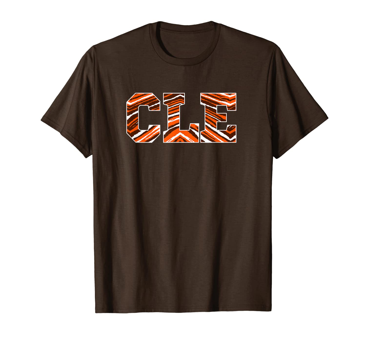 Cleveland Game Day CLE Zebra Pattern Sunday Funday Football T-Shirt-TH