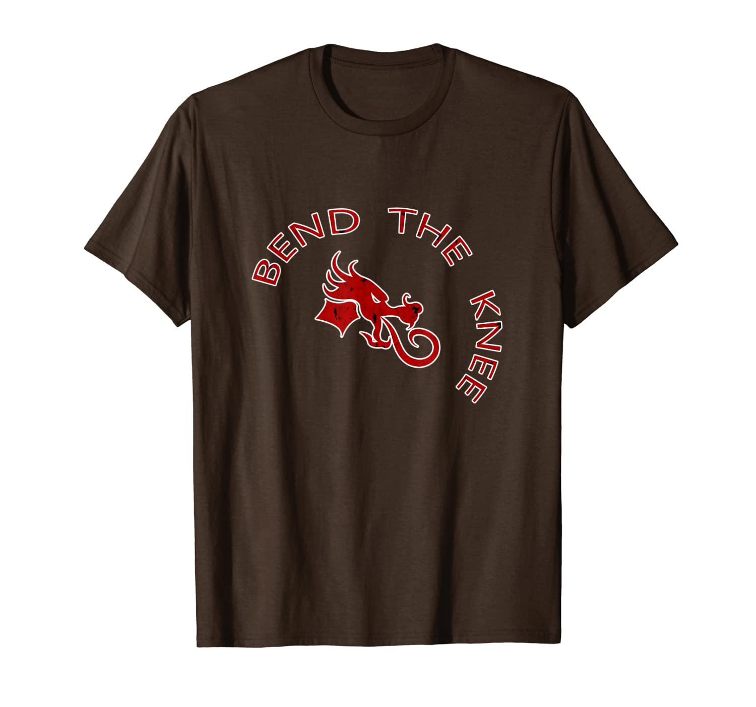 Bend The Knee - Medieval Dragon Heraldry Tee Shirt-TH
