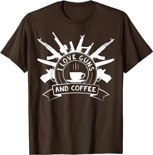 God Guns Coffee Tee 2nd Amendment T-shirt Gun Rights Bear Arms
