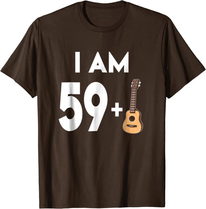 Guitar 60 Years Birthday Theme Personalised Printed Mens T-Shirt
