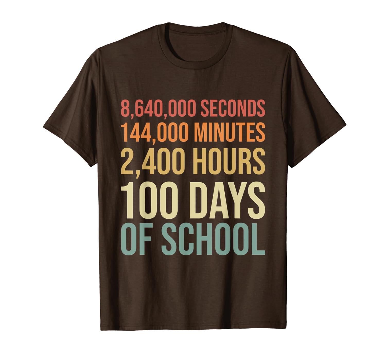 100th Day Preschool Kids Teacher Retro 100 Days Of School T-Shirt Unisex Tshirt