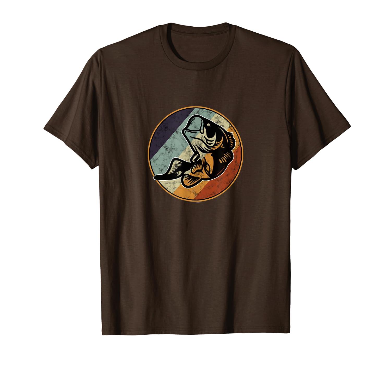 Retro Largemouth Graphic Art Bass Fishing T-Shirt Unisex Tshirt