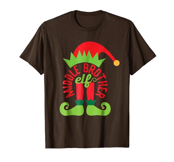 Amazon.com: Funny Middle Brother elfo playera Duende de la ...